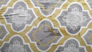 Patura 2 persoane COCOLINO - Galben, imprimeu oriental cu gri