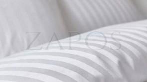 Lenjerie hoteliera damasc 2 persoane FINET - 6 piese - Alb, model linii inguste